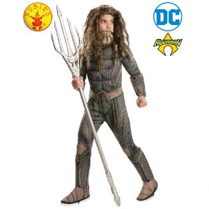 Aquaman Deluxe Costume Child - Justice League Aquaman Deluxe Costume Child