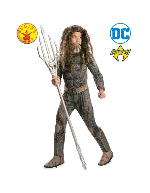 Aquaman Deluxe Costume Child - Justice League Aquaman Deluxe Costume Child