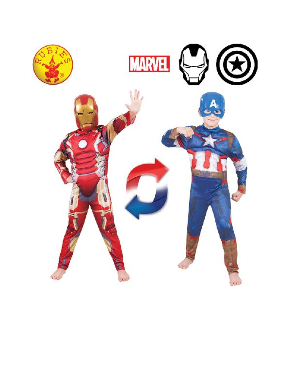 Iron Man to Captain America Costume