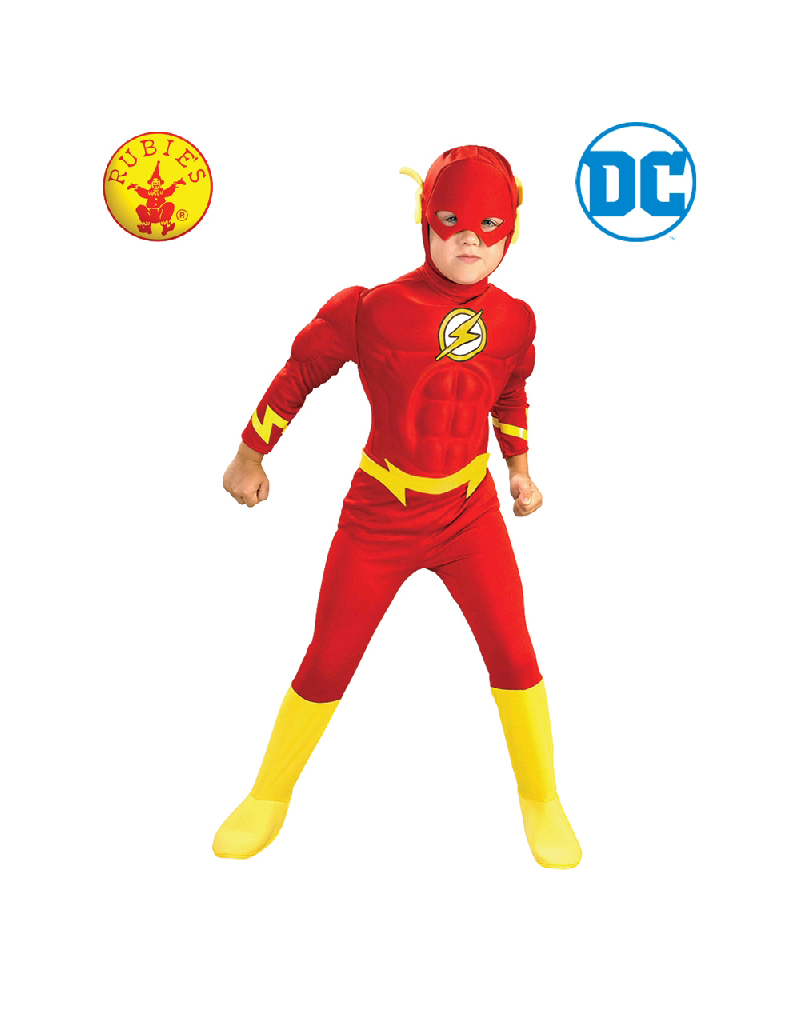 f8990d125e66 The Flash Deluxe Muscle Chest Costume Toddler Child - Justice League The  Flash Deluxe Muscle Chest