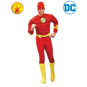 The Flash Costume - The Flash Muscle Chest Costume Adult