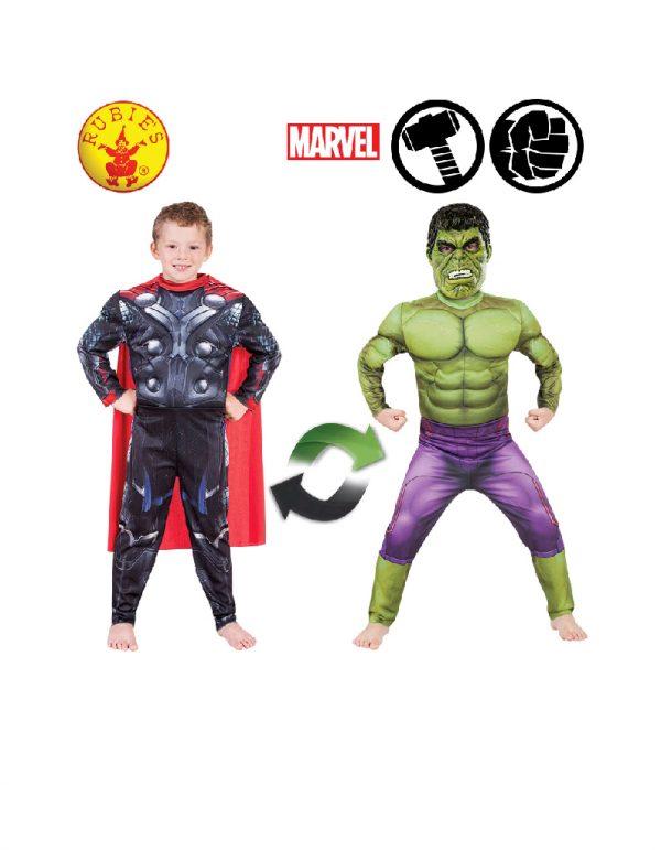 Thor to Hulk Reversible Costume