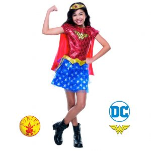 Wonder Woman Sequin Tutu Costume Child - Justice League Wonder Woman Sequin Tutu Costume Child