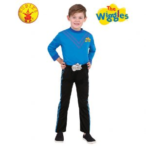 The Wiggles Costume - Anthony Wiggle Deluxe Costume Blue Child