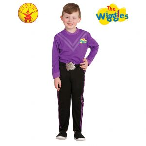 The Wiggles Costume - Lachy Wiggle Deluxe Costume Purple Child