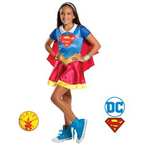 Supergirl DC Superhero Girls Classic Child - Justice League Supergirl DC Comics Superhero Costume