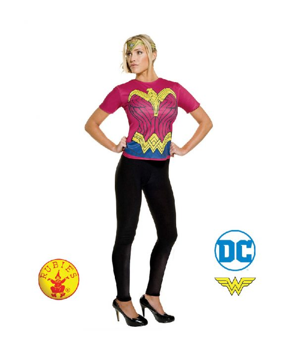 Wonder Woman Costume Top Tshirt - Wonder Woman Dawn of Justice Top Adult