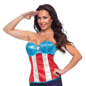 American Dream Sequined Corset