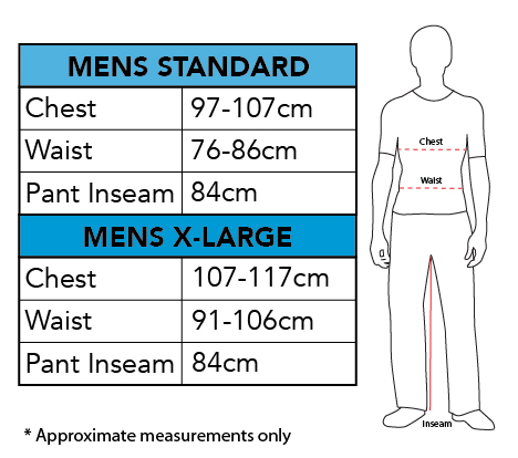 Sizing Chart - Black Panther Costume