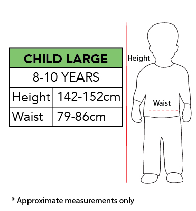Sizing Chart - Black Panther Deluxe Costume Child