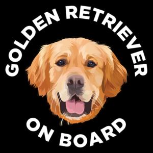 Golden Retriever Sticker - Golden Retriever Car Sticker