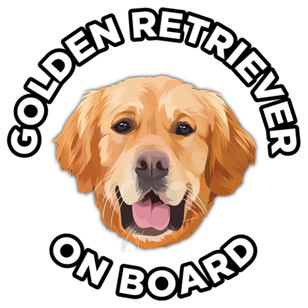 Golden Retriever Sticker - Golden Retriever Car Sticker